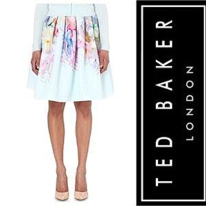 Ted Baker Hanging Gardens Border Mint Thyra Skirt
